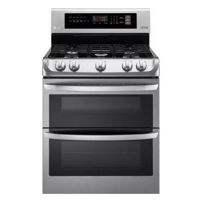 LG 6.9 cu. ft. Gas Double Oven Range with ProBake Convection™ and EasyClean®