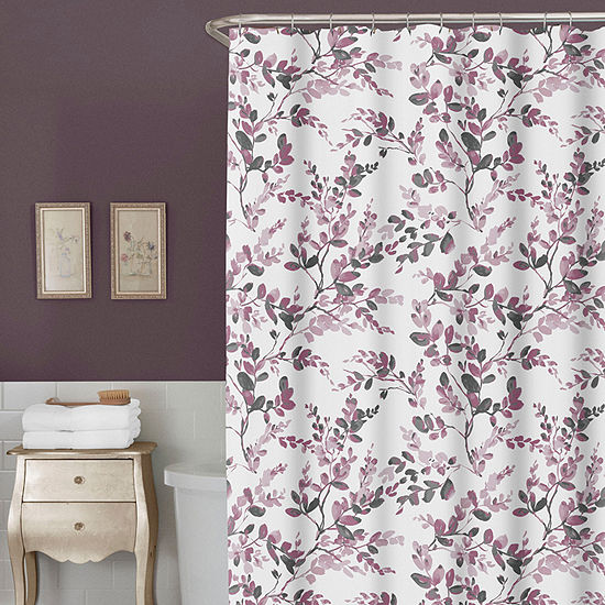 Zenna Home Watercolor Spring Botanical Shower Curtain