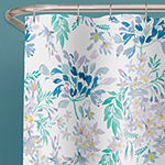 Zenna Home Watercolor Botanical Leaves Shower Curtain