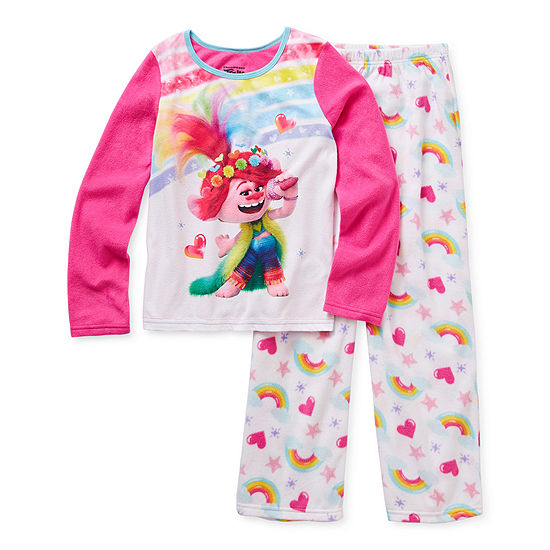 Little & Big Girls 2-pc. Trolls Pant Pajama Set