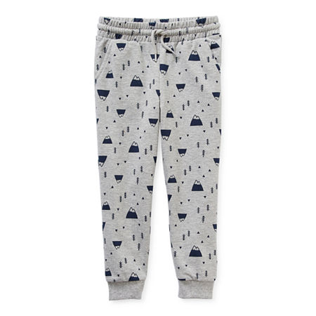 Okie Dokie Toddler Boys Mid Rise Cuffed Jogger Pant, 2t , Gray