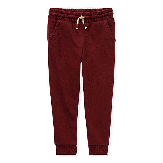Okie Dokie Toddler Boys Mid Rise Cuffed Jogger Pant