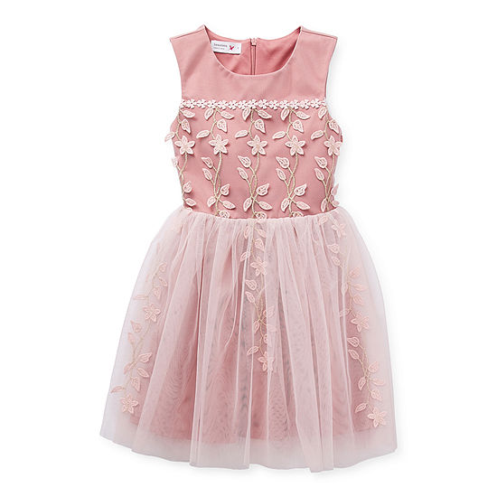Beautees Casual Dress Collection Little & Big Girls Sleeveless Fit & Flare Dress