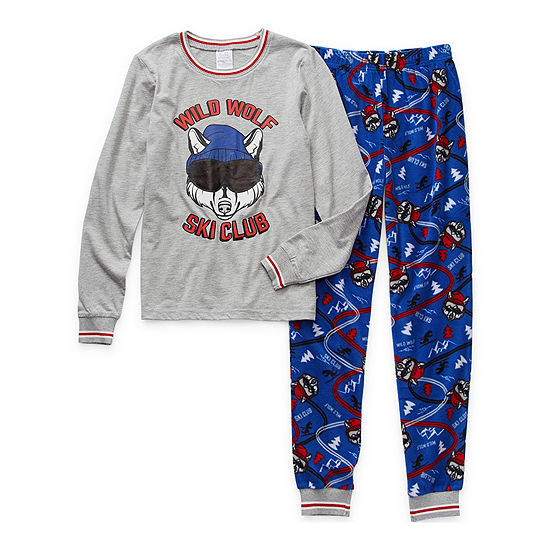 Peace Love And Dreams Little & Big Boys 2-pc. Pajama Set