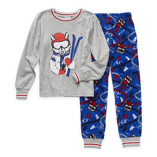 Peace Love And Dreams Little & Big Boys 2-pc. Pajama Set