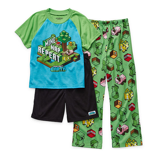 Little & Big Boys 2-pc. Minecraft Pajama Set