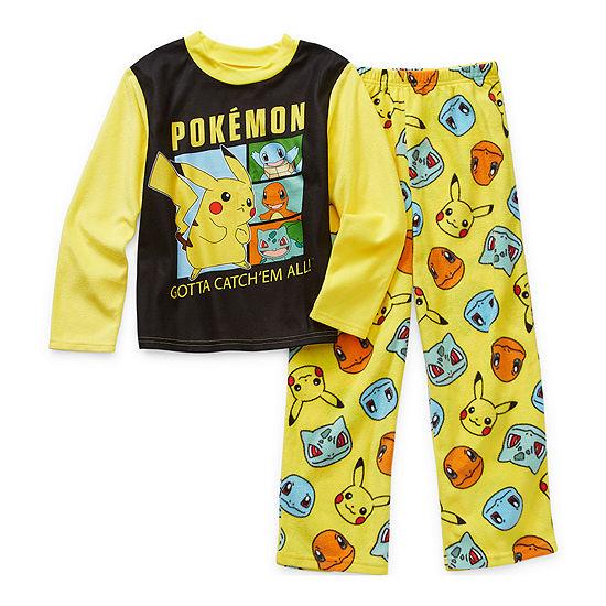 Little & Big Boys 2-pc. Pokemon Pant Pajama Set