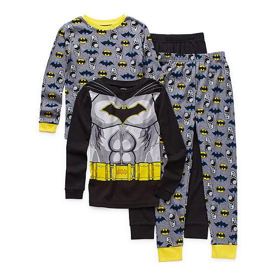 Little & Big Boys 4-pc. Batman Pajama Set