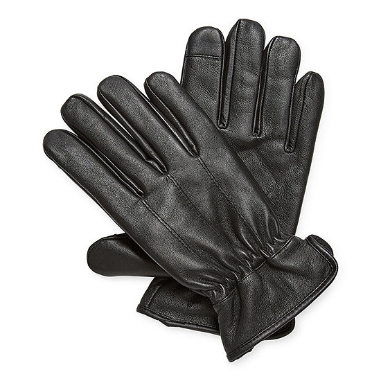 JF J.Ferrar Mens Leather Cold Weather Gloves