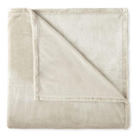 Home Expressions Velvet Plush Blanket, One Size , White