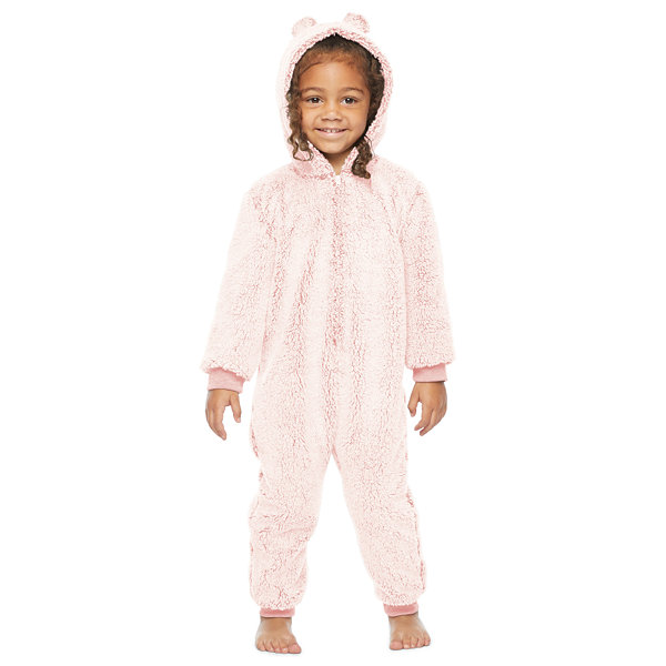 North Pole Trading Co. It's Cold Outside Toddler Unisex Fleece Long Sleeve One Piece Pajama