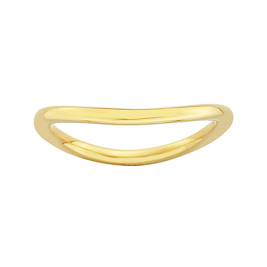 Personally Stackable 18K Yellow Gold Over Sterling Silver Wave Ring