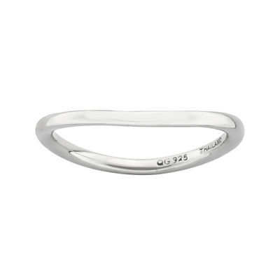 Personally Stackable Sterling Silver Stackable Wave Ring