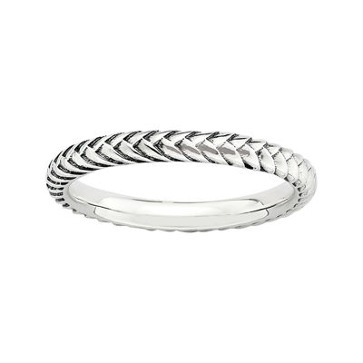 Personally Stackable Sterling Silver Oxidized Stackable Ring