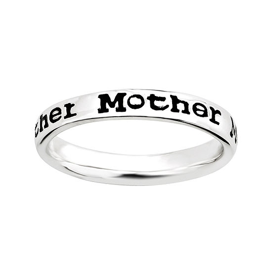 "Personally Stackable Sterling Silver Stackable ""Mother"" Ring"