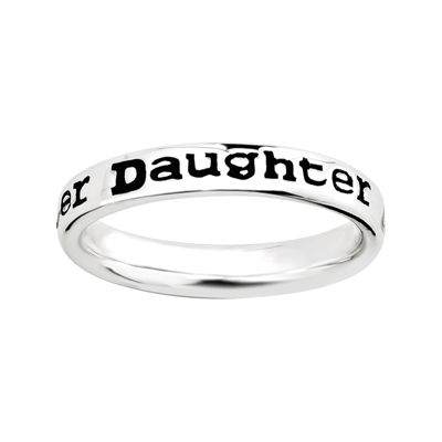 "Personally Stackable Sterling Silver Stackable ""Daughter"" Ring"