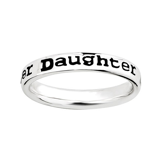 """Personally Stackable Sterling Silver Stackable """"Daughter"""" Ring"""
