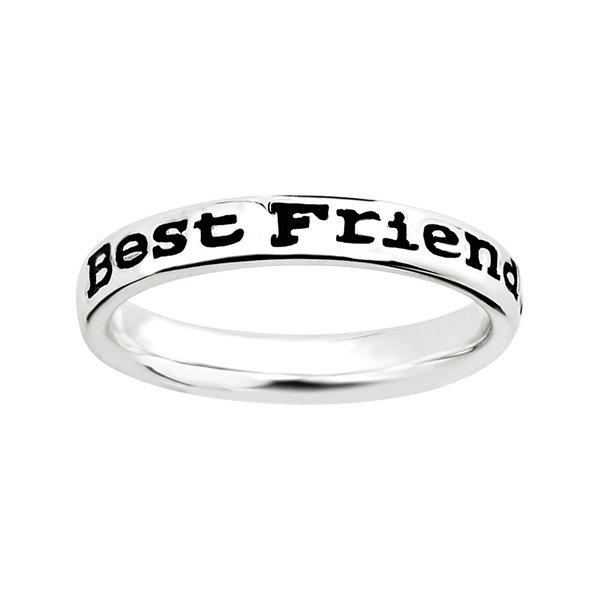 "Personally Stackable Sterling Silver Stackable ""Friends"" Ring"