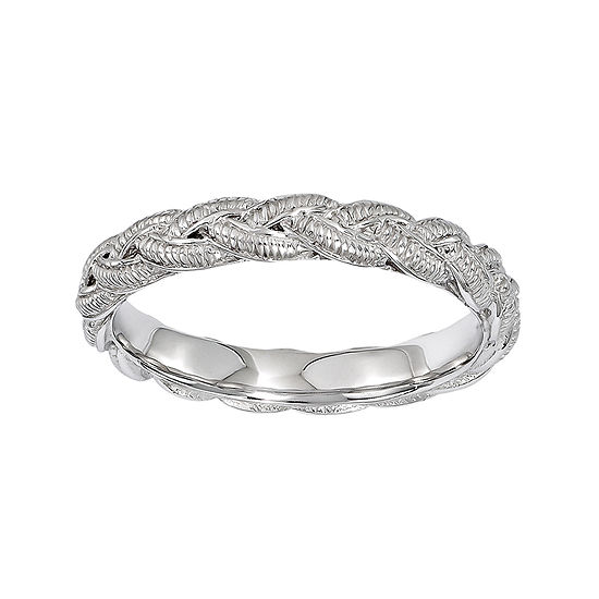 Personally Stackable Sterling Silver Twisted Rope Stackable Ring