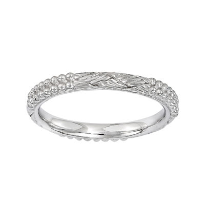 Personally Stackable Sterling Silver Patterned Stackable Ring