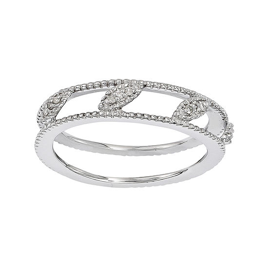 Personally Stackable Diamond-Accent Sterling Silver Stackable Ring Jacket