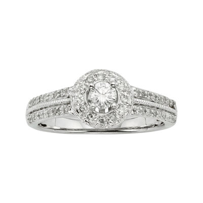 1/2 CT. T.W. Certified Diamond 10K White Gold Bridal Ring
