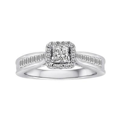 3/4 CT. T.W. Certified Diamond 14K White Gold Bridal Ring