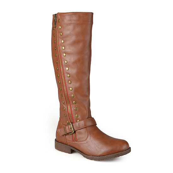 Journee Collection Tilt Knee-High Riding Boots - Wide Calf