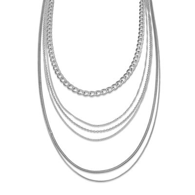 Silver Multi-Layer Necklace