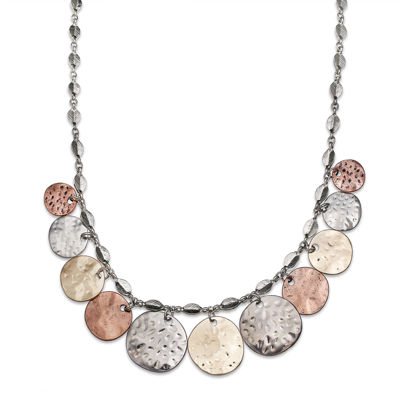 Tri-Tone Shaky Collar Necklace