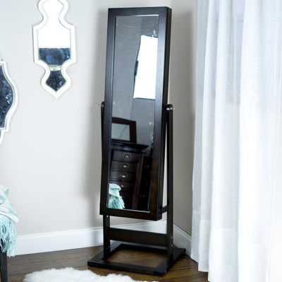 Hives and Honey Trinity Mirror-Front Cheval Jewelry Armoire