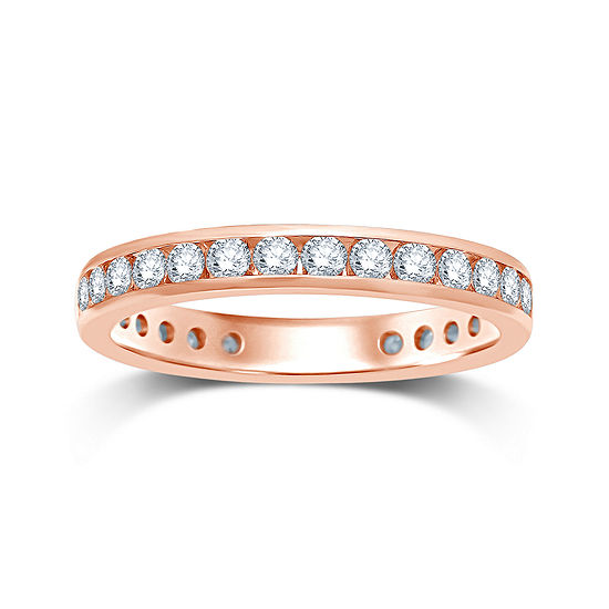 1 CT. T.W. Diamond 14K Rose Gold Eternity Wedding Band