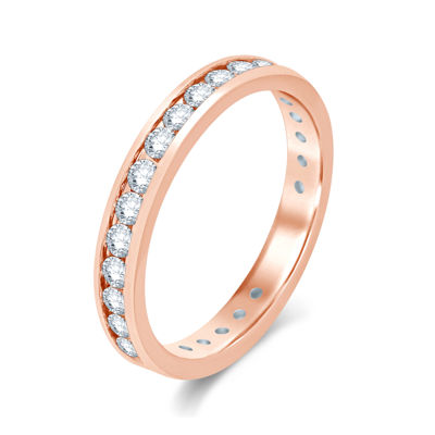 1 CT. T.W. Diamond 14K Rose Gold Eternity Wedding Band