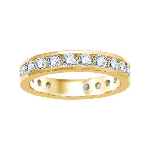 2 CT. T.W. Diamond 14K Yellow Gold Eternity Wedding Band