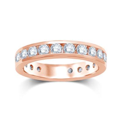 2 CT. T.W. Diamond 14K Rose Gold Eternity Wedding Band