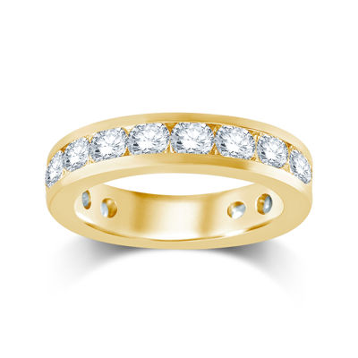 3 CT. T.W. Diamond 14K Yellow Gold Eternity Wedding Band