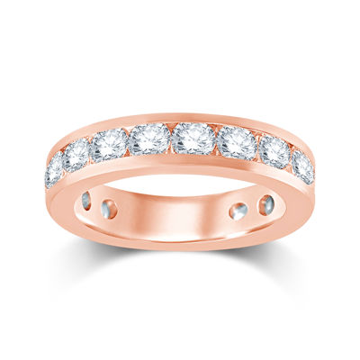 3 CT. T.W. Diamond 14K Rose Gold Eternity Wedding Band