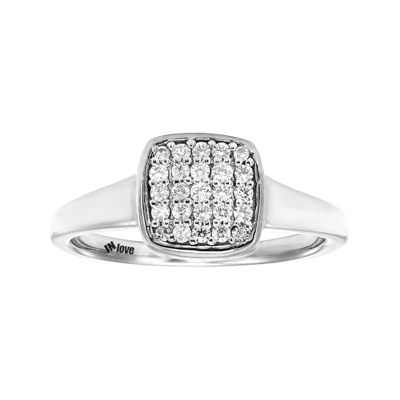IN Love 1/4 CT. T.W. Diamond 10K White Gold Multi-Top Ring