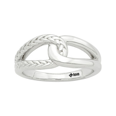 IN Love 14K White Gold Infinity Ring