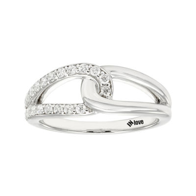 IN Love 1/3 CT. T.W. Diamond 14K White Gold Infinity Band