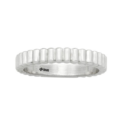 IN Love 14K White Gold Wavy Band