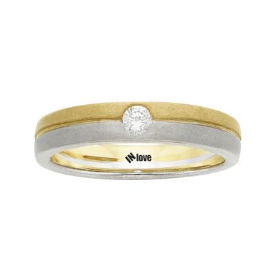 IN Love 1/10 CT. T.W. Diamond 14K Two-Tone Gold Wedding Band