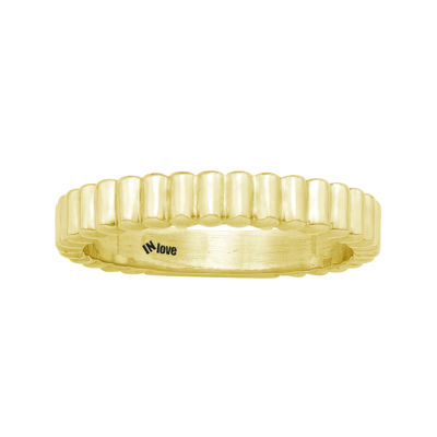 IN Love 14K Yellow Gold Wavy Band