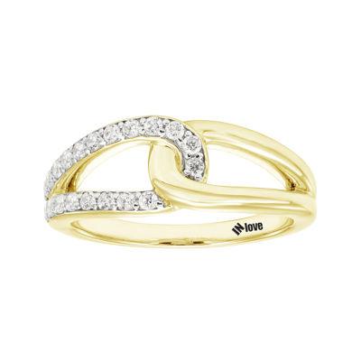 IN Love 1/3 CT. T.W. Diamond 14K Yellow Gold Infinity Band