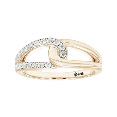 IN Love 1/3 CT. T.W. Diamond 14K Rose Gold Infinity Band