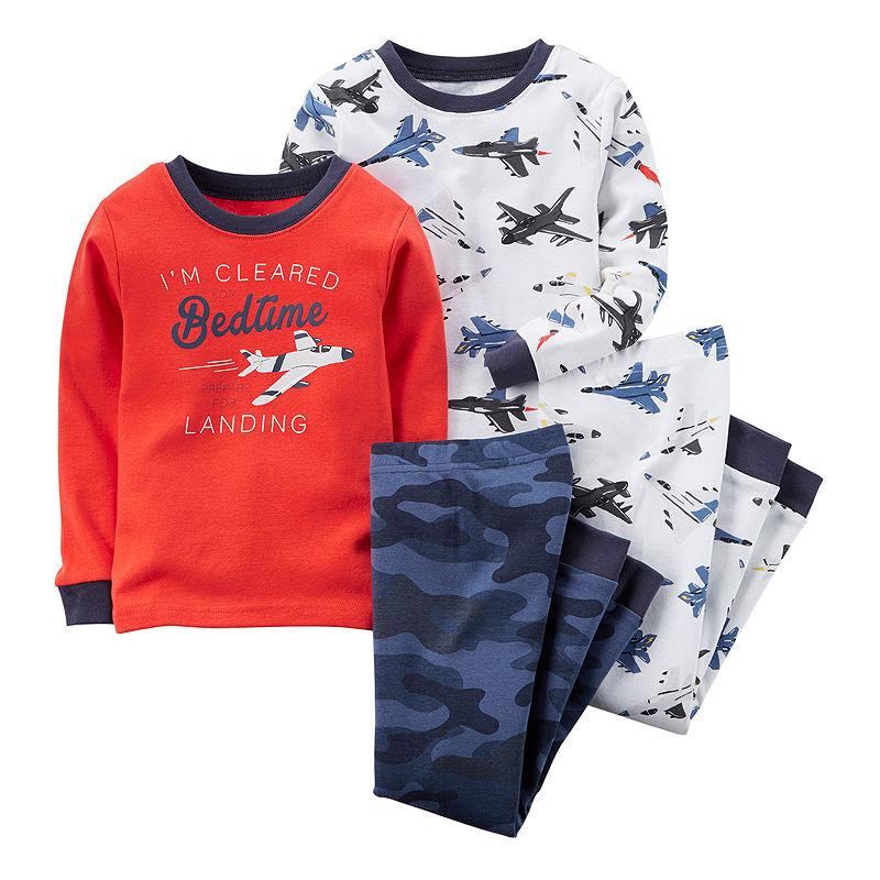 6d62e5ae0 UPC 888510857570 - Carter s 4-pc. Airplane Pajamas - Toddler Boys 2t ...