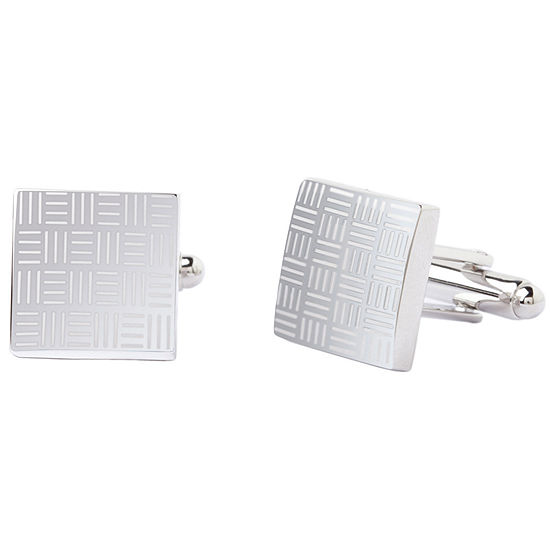 Collection by Michael Strahan Basketweave Pattern Cuff Links