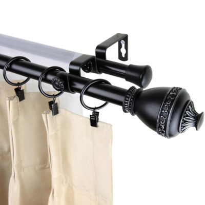 "Rod Desyne Amelie 13/16"" Double Adjustable Curtain Rod"
