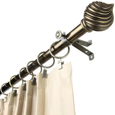 "Rod Desyne Bisque 13/16"" Adjustable Curtain Rod"
