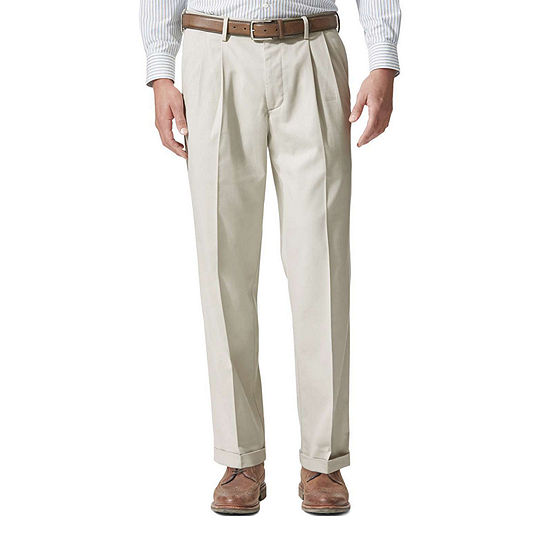Dockers® Relaxed Fit Comfort Khaki Cuffed Pants - Pleated D4